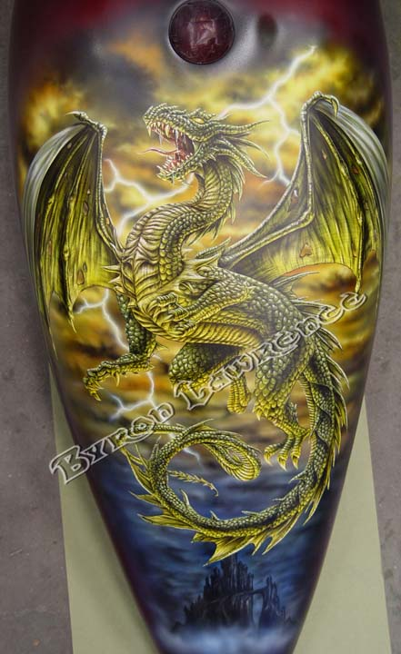 Pics Of Cool Sports Cars >> Custom Motorcycle paint jobs Paint and Airbrush Art - Byronic Art