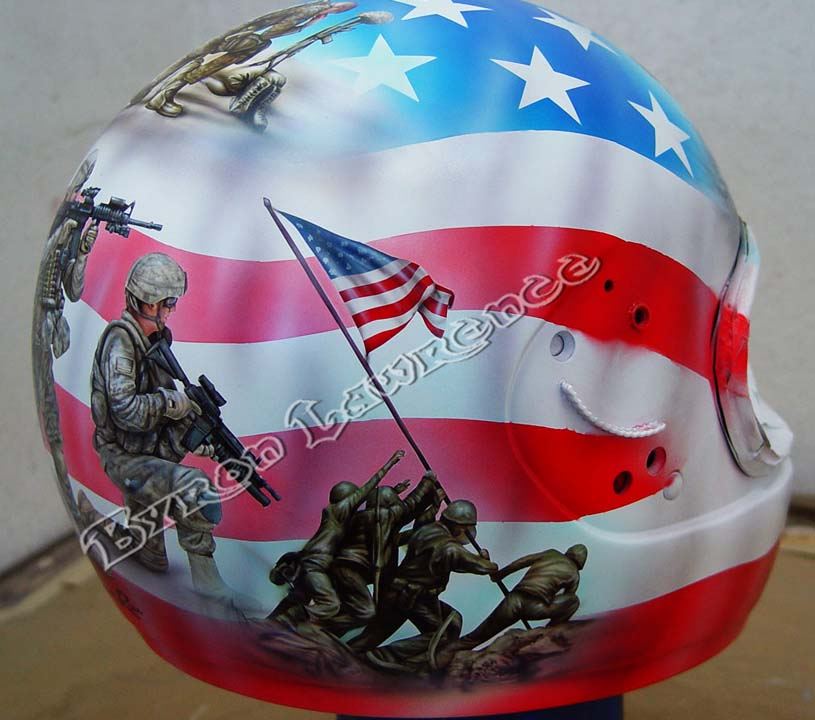 Custom Painted Motorcycle Helmet Rat