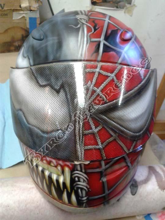 custom painted motorcycle helmets and hockey masks