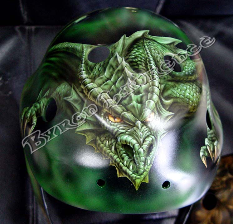 Custom Painted Motorcycle Helmets And Hockey Masks